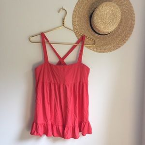 J. Crew coral pink knit top